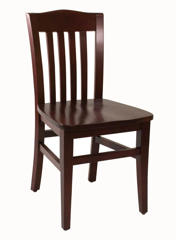 slat back wood chair