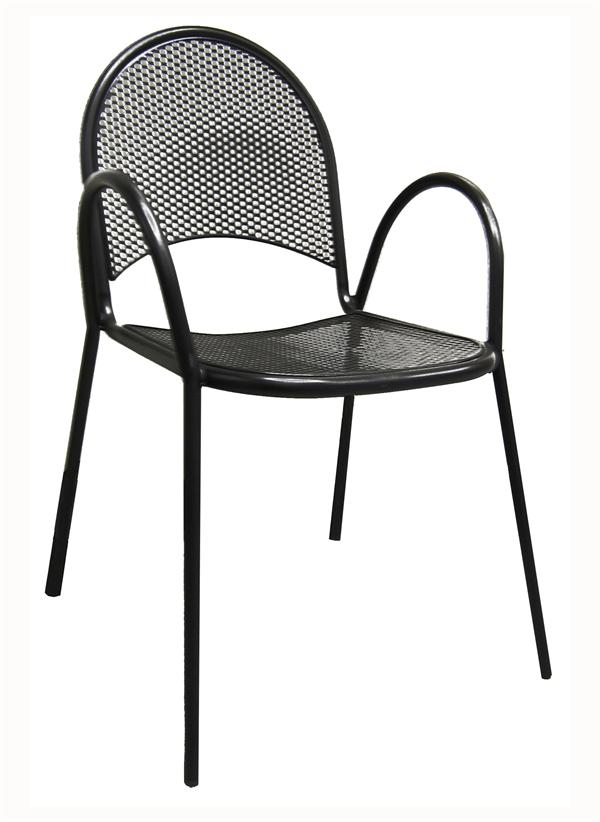 Mesh Back & Seat Black Outdoor Chair