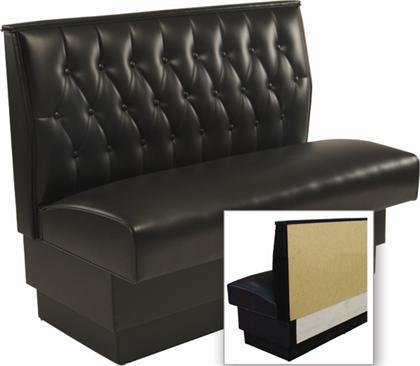 Button Tufted Back Wall Bench